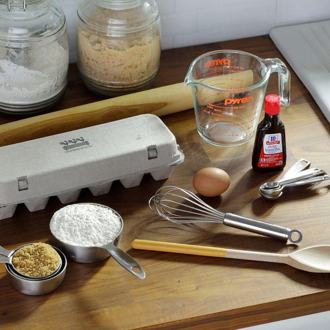 generic baking supplies in kitchen enviro