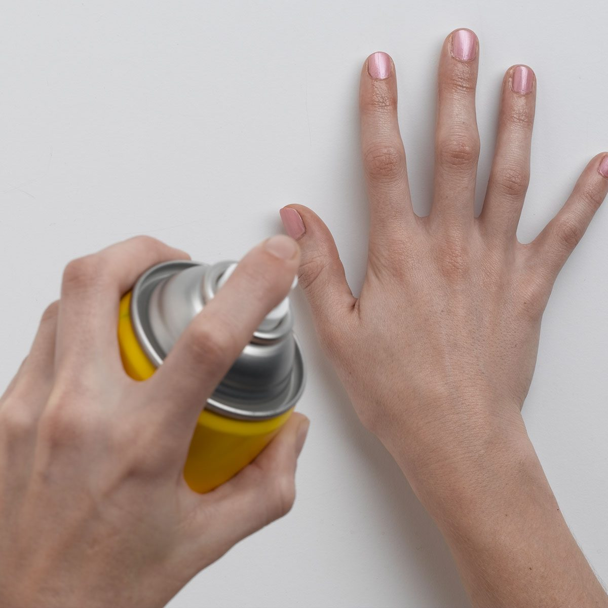 Cooking spray on nails