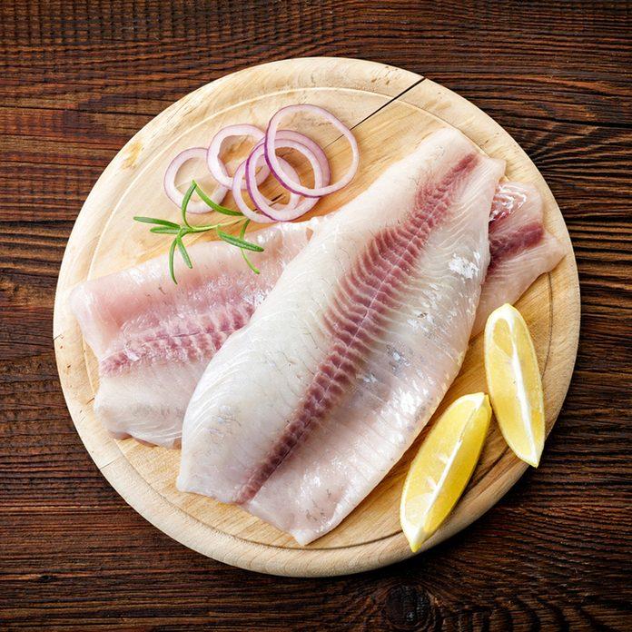 fresh raw bream fish fillets, top view; Shutterstock ID 510234850; Job (TFH, TOH, RD, BNB, CWM, CM): Taste of Home