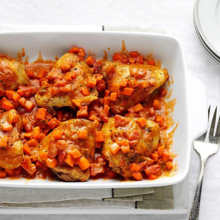 African Chicken & Sweet Potatoes