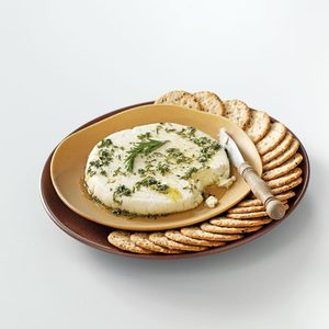 "Almond ""Feta"" with Herb Oil"