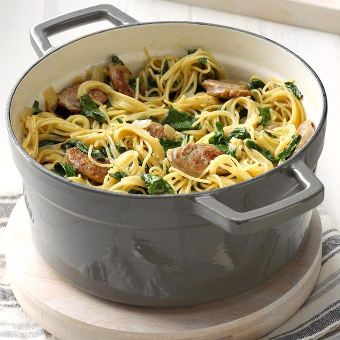 Angel Hair Pasta With Sausage Spinach Exps Cimz19 50260 B01 09 7b 2 44