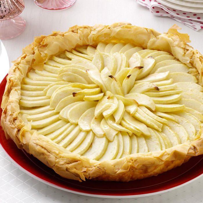 Apple Frangipane Phyllo Tart
