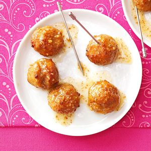 Apple-Mustard Glazed Meatballs