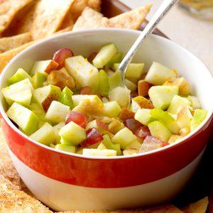 Apple Pear Salsa with Cinnamon Chips