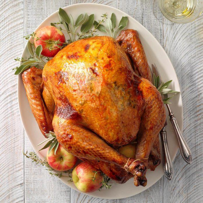 Apple sage roasted turkey