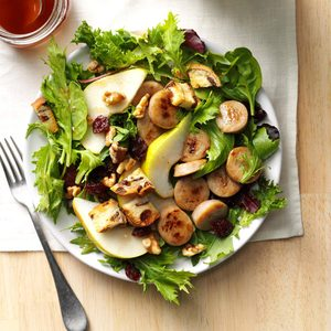Apple Sausage Salad with Cinnamon Vinaigrette