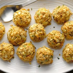 Apple Stuffing Balls