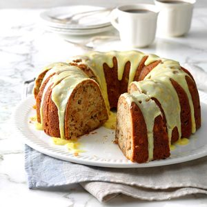 Apple-Walnut Cake with Orange Glaze