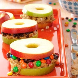 Apple and Peanut Butter Stackers