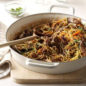 Easy Asian Beef and Noodles