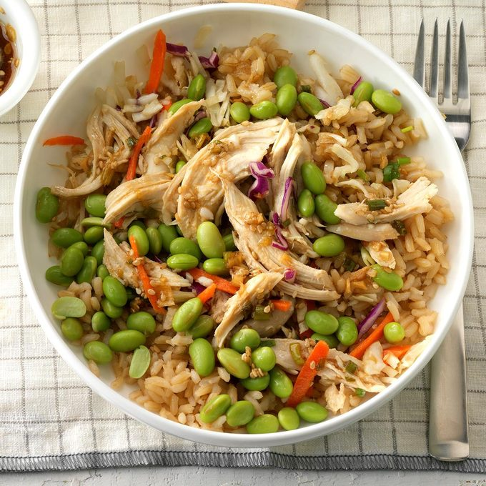 Asian Chicken Rice Bowl