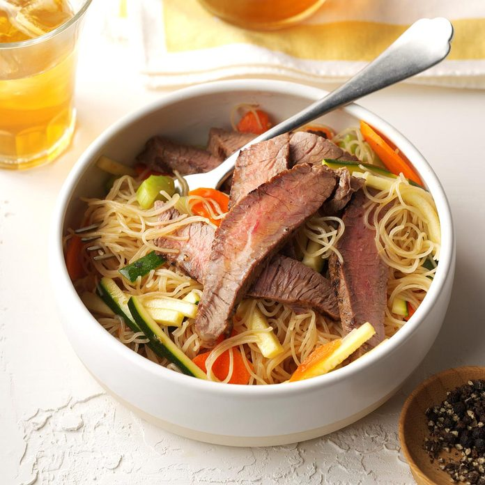 August 25: Asian Noodle & Beef Salad
