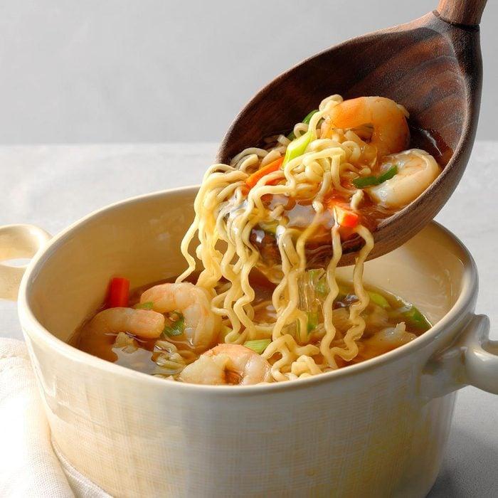 Asian Ramen Shrimp Soup