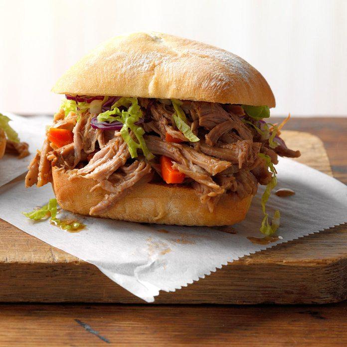 Day 10: Asian Shredded Pork Sandwiches