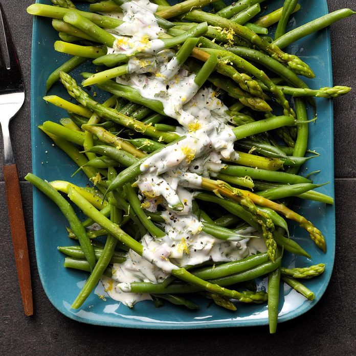 Asparagus And Green Beans With Tarragon Lemon Dip Exps Fttmz19 48007 B03 05 2b Rms 2