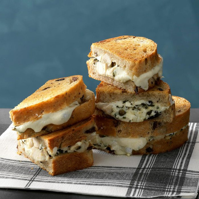 Athenian Chicken Grilled Cheese Sandwiches