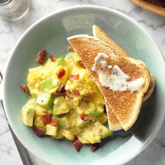 Avocado Scrambled Eggs