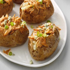 BBQ Chicken Baked Potatoes