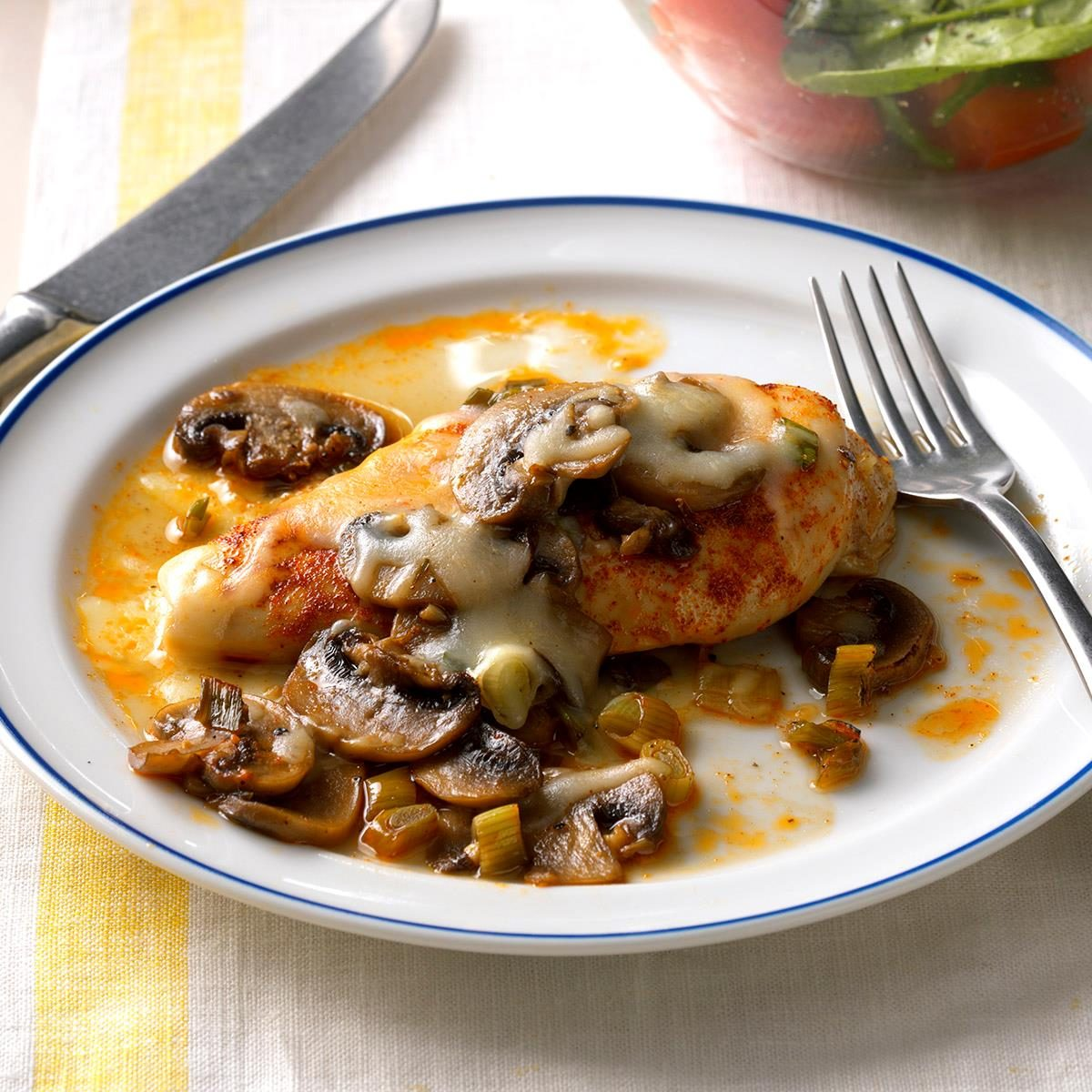 Tuesday: Baked Chicken and Mushrooms