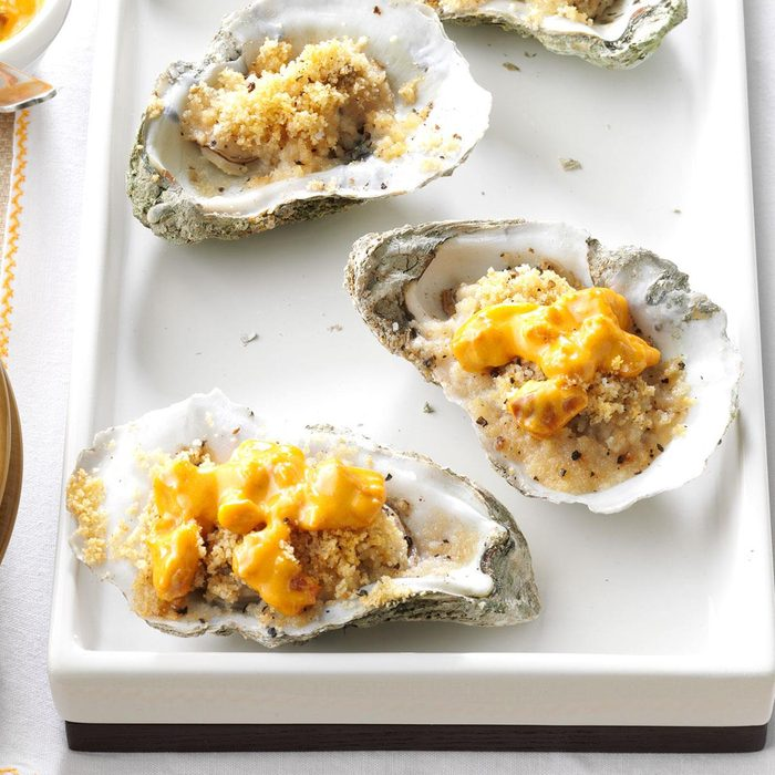 Baked Oysters with Tasso Cream