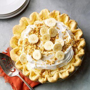 Banana Cream Pie with Cake Mix Crust