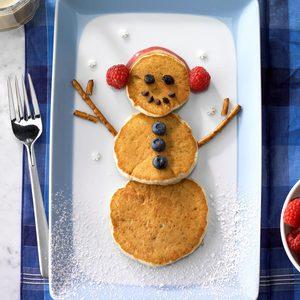Banana Pancake Snowmen