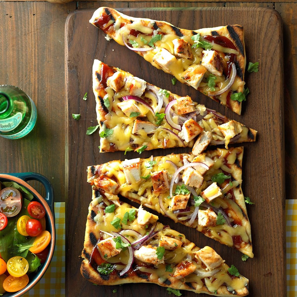 Friday: Barbecued Chicken Pizzas