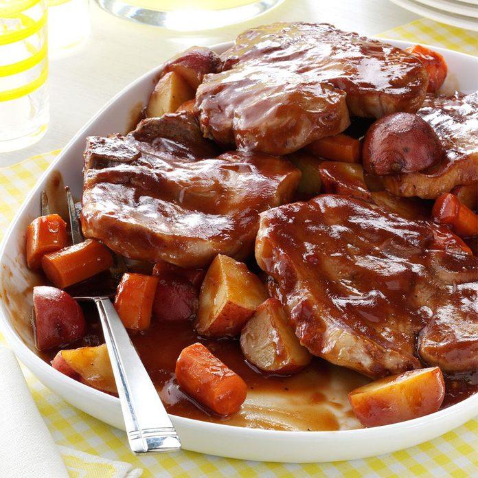 Barbecued Pork Chop Supper