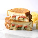 Basil-Tomato Grilled Cheese