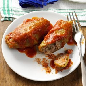 Beef & Rice Stuffed Cabbage Rolls
