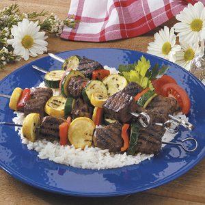 Beef Squash Shish Kabobs