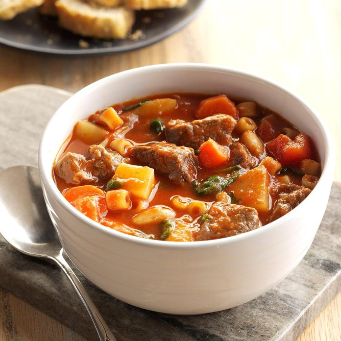 Beef Stew with Pasta