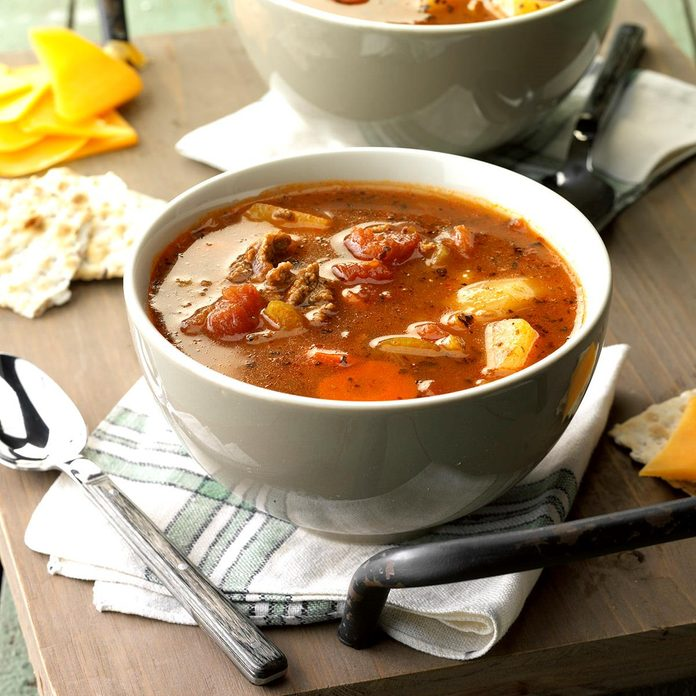 Inspired by: Hearty Beef Vegetable Soup from Bob Evans