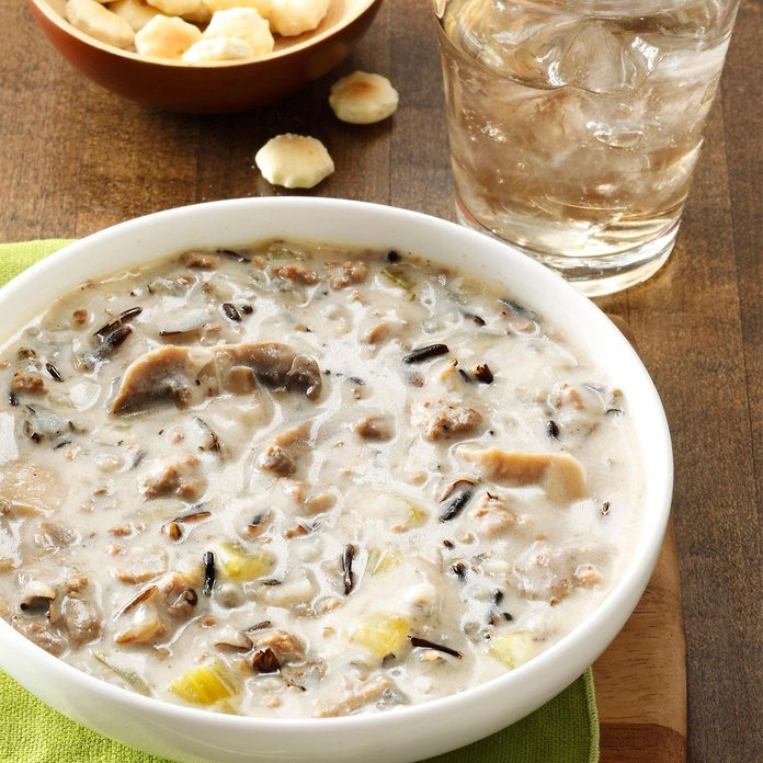 Beefy Wild Rice Soup