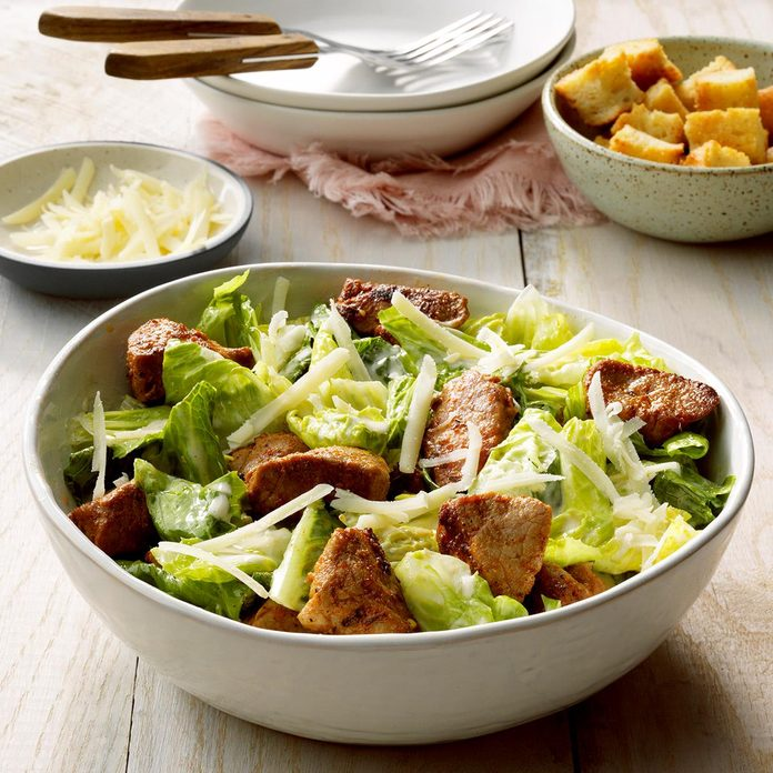 July 3: Blackened Pork Caesar Salad