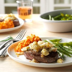 Blue Cheese-Crusted Sirloin Steaks
