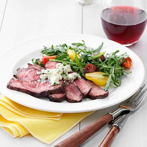 Blue Cheese Flat Iron Steak