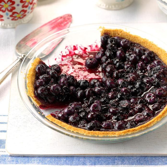 Blueberry Pie with Graham Cracker Crust