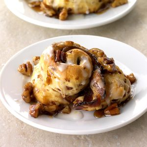 Bourbon-Soaked Bacon and Ginger Cinnamon Rolls