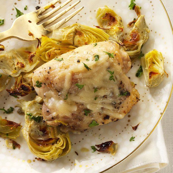 Broiled Chicken & Artichokes