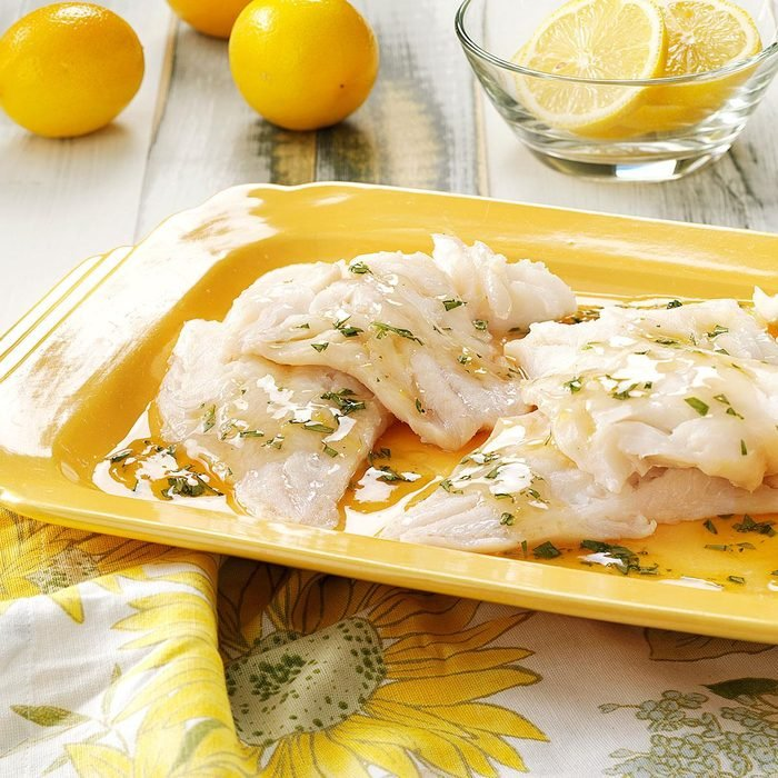 Broiled Fish with Tarragon Sauce