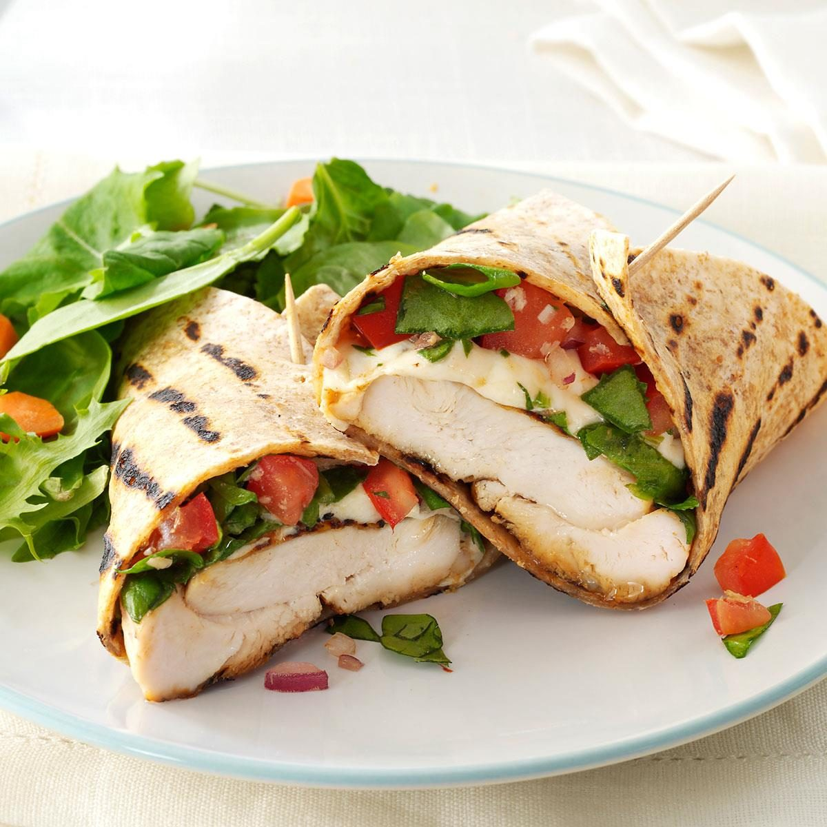 Thursday: Bruschetta Chicken Wraps