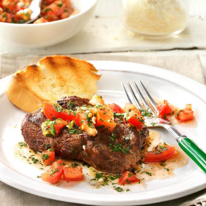 Day 2 Dinner: Bruschetta Steak