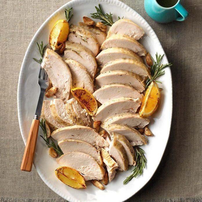 Butter herb turkey