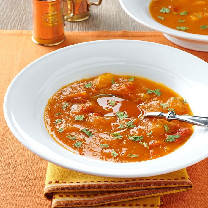 Butternut Squash and Roasted Pepper Soup