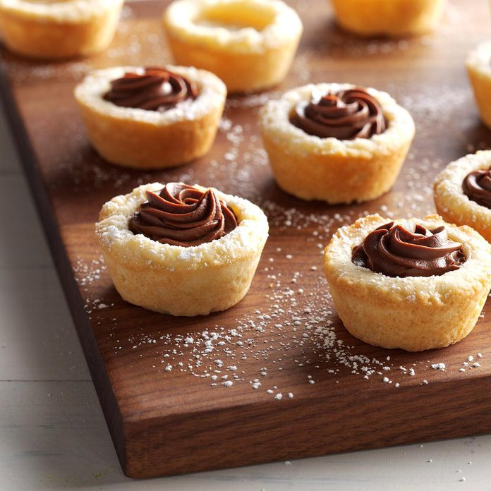 Buttery Ganache Cookie Cups