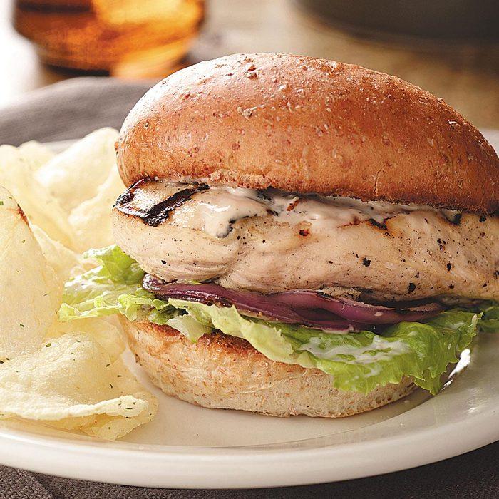 Caesar Chicken Burgers