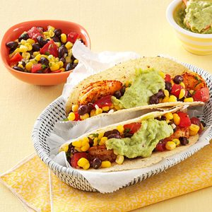 California Shrimp Tacos with Corn Salsa