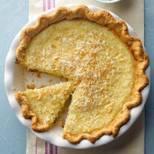Can't-Miss Coconut Custard Pie